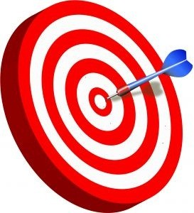 Dart missing centre of target