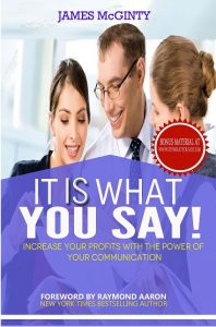 Book cover for it IS what you say